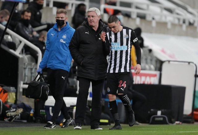 Miguel Almiron could return to the Newcastle United squad for the trip to Brighton and Hove Albion. (Photo by Richard Sellers - Pool/Getty Images)