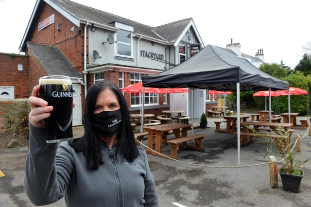 The Stackyard in West Herrington is getting ready to open its new outdoor area ahead of April 12th. Publican Katrina Quinn.