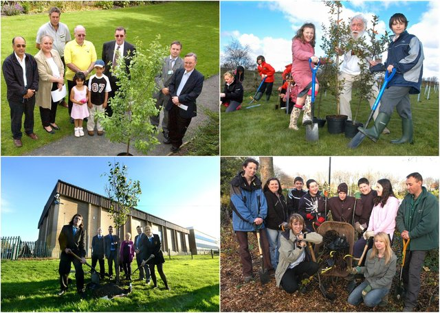 9 tree planting scenes from the past but can you spot someone you know?