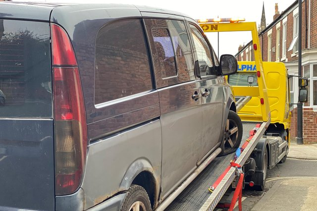 Sunderland City Council have seized a van on Humbledon View in Ashbrooke after it was suspected of being involved in fly-tipping.