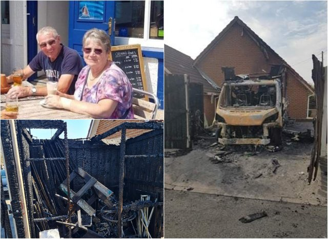 Couple 'overwhelmed' after fundraiser set up after their motor home was destroyed in a blaze reaches £1,000 target