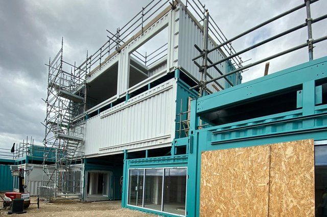 The two-storey Stack Seaburn is taking shape