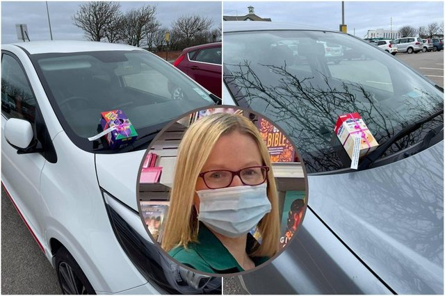 Davinia Cain, the community champion at Seaburn Morrisons, put 30 Easter eggs on customer's cars in a random act of kindness.