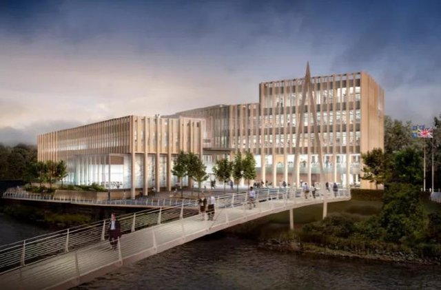 Artists impression of Durham County Council's new HQ in Durham City