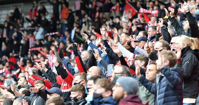 Sunderland fans returned in limited numbers to the Stadium of Light in May