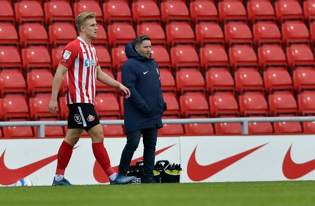 Ollie Younger on his league debut at the Stadium of Light