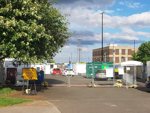 Covid-19 local testing centre, Hendon