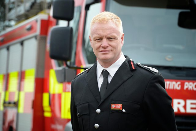 Chief fire officer (CFO) Chris Lowther of Tyne and Wear Fire and Rescue Service (TWFRS).