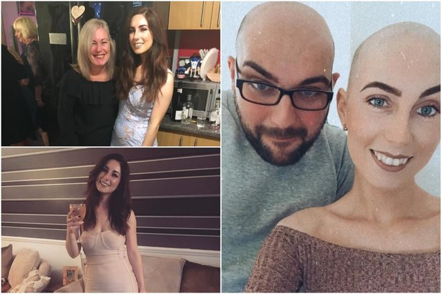 Amy Anderson, pictured with mum Amanda Hope and partner Gareth Wilson, has been diagnosed with incurable cervical cancer.