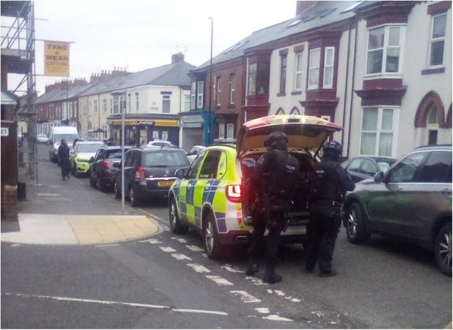 Armed police were called to the incident in Roker Avenue.