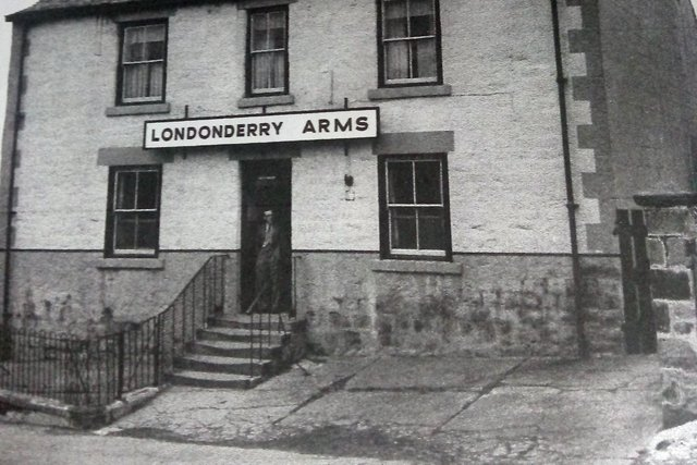 The first of two views of the Londonderry Arms which stood in the middle of Shiney Row but was eventually demolished. Photo: Ron Lawson.