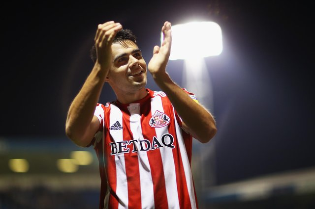 Reece James of Sunderland celebrates at the full-time whistle after the Sky Bet League One match between Gillingham and Sunderland at Priestfield Stadium on August 22, 2018 in Gillingham, United Kingdom.