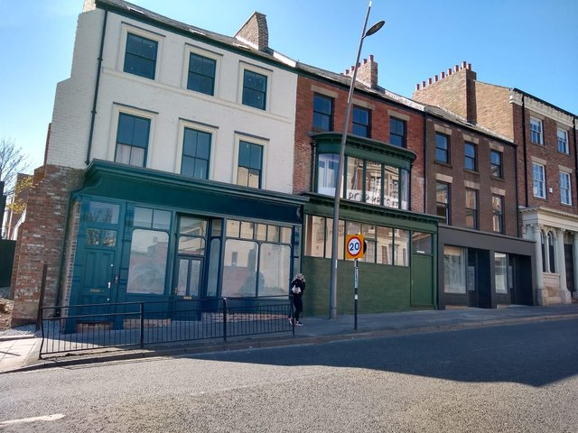 170-175 High Street West after the work was carried out.