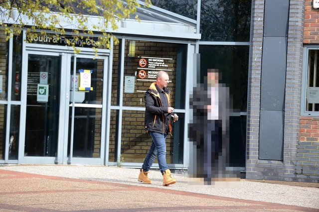 Mark Thompson at South Tyneside Magistrates' Court charged with death by dangerous driving.