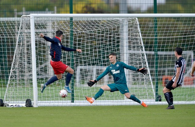 Josh Hawkes scores against Newcastle United U23s