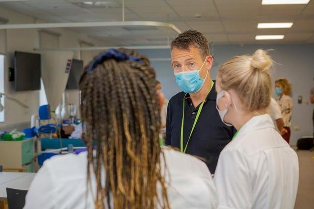 University of Sunderland nursing students