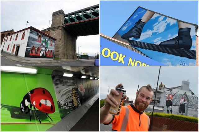 Frank Styles' pieces brighten streets around the city