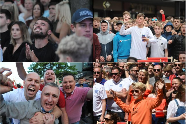 England supporters in the Fanzones in 2018. Take a look.