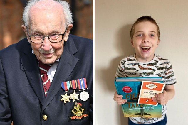 Jack Berry (right) and his inspiration, Captain Tom