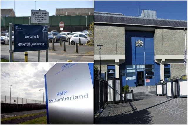 Information released shows how many days prisons including HMP Low Newton, HMP Durham and HMP Northumberland were closed off to visitors during the first two Covid-19 lockdowns.