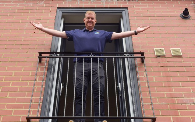 Mark Walsh will be looking down on the rest of Britain during the Lighthouse Therapy Group's Three Peak Challenge. Picture by Kevin Brady.