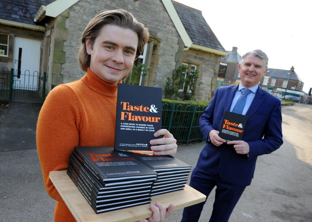 Sunderland City Council's Chief Executive Patrick Melia and Life Kitchen's Ryan Riley with the new recipe book.