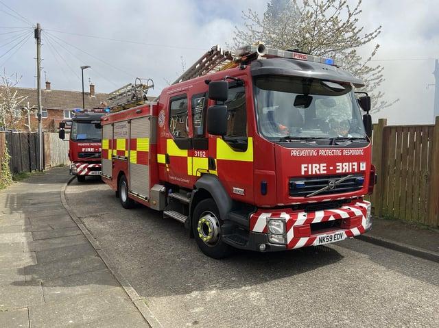 Tyne & Wear firefighters in action.