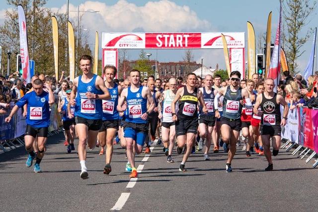 Runners at the start of the Sunderland 10k in 2019.