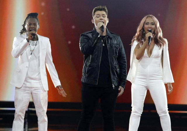 Michael Rice performs the song Bigger Than Us during the 2019 Eurovision Song Contest grand final in Tel Aviv, Israel, on Saturday, May 18.