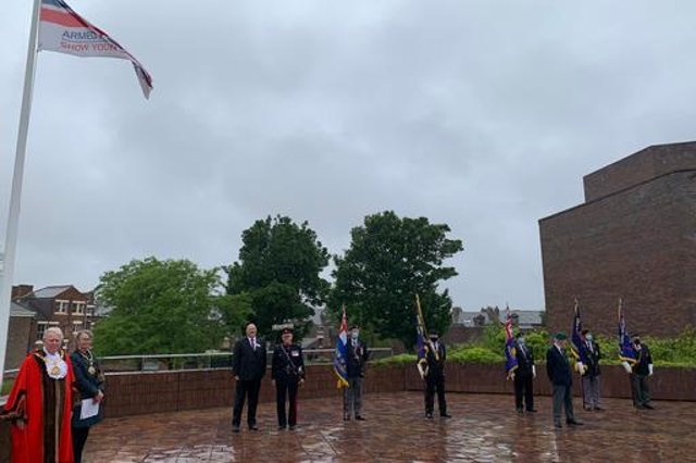 The flag raising ceremony