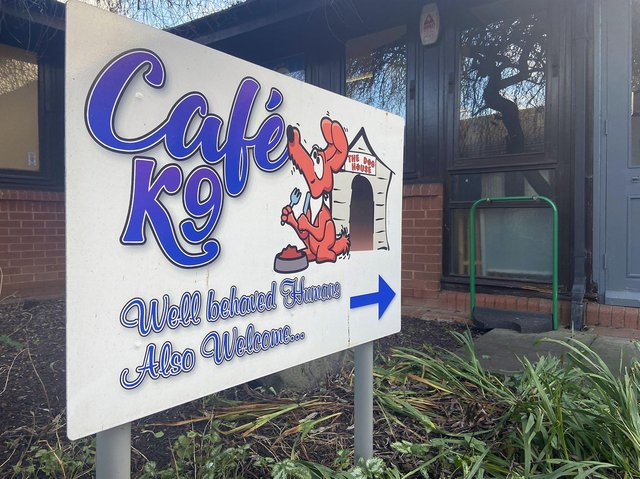 The entrance to the K9 Cafe. Picture by FRANK REID