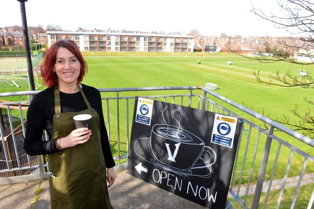 The new Vista coffee shop at Ashbrooke Sports Ground, which is being run by Emma Duncan, pictured, and Becci Wake.