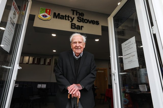 Matty Stoves, in the doorway to the bar which takes his name at Seaham Golf Club.