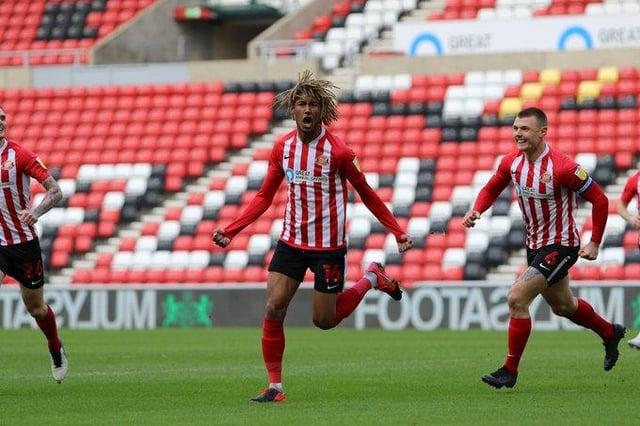 Dion Sanderson celebrates his goal for Sunderland