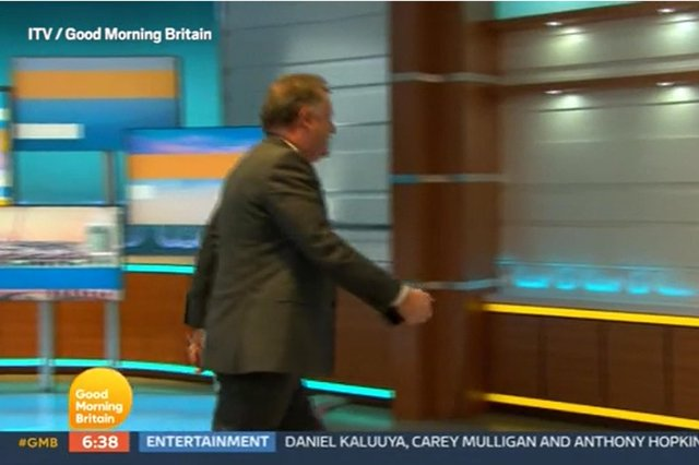 Piers Morgan storms off ITV's Good Morning Britain. Picture by ITV
