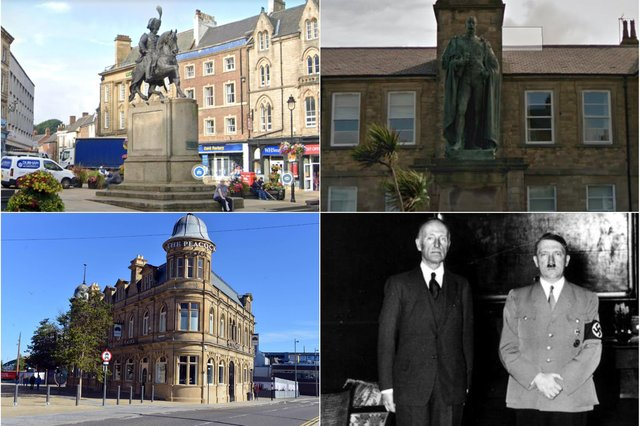 Clockwise from top left; statue of the 3rd Marquess in Durham, 6th Marquess, 7th Marquess with mystery friend and the Peacock pub in Sunderland which understandably reverted to its original name having been known as the Londonderry. Google images/JPI.