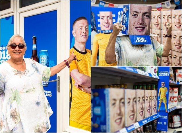 Shah & Sons Convenience Store has been transformed in honour of Jordan Pickford.