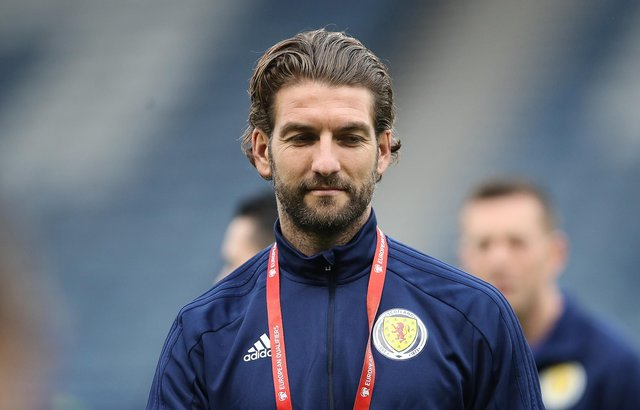 GLASGOW, SCOTLAND - OCTOBER 13: Charlie Mulgrew of Scotland is seen ahead of  the UEFA Euro 2020 qualifier between Scotland and San Marino at Hampden Park on October 13, 2019 in Glasgow, Scotland. (Photo by Ian MacNicol/Getty Images)