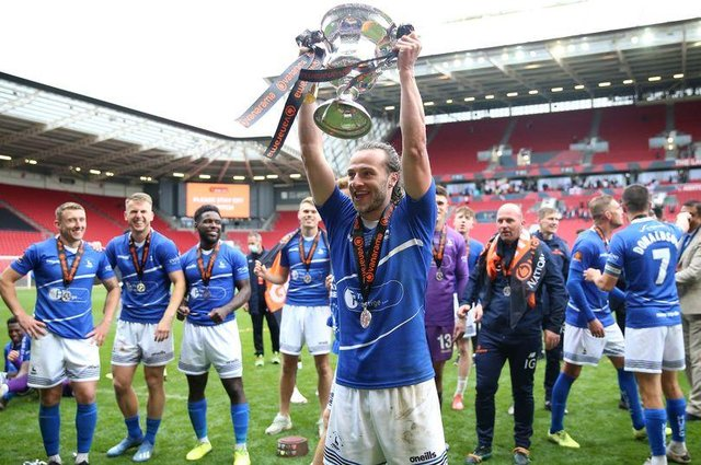 Jamie Sterry following the National League promotion final (photo: PA)