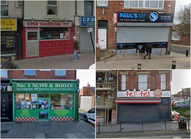 11 Sunderland businesses who have food hygiene ratings of 0 or 1 star.