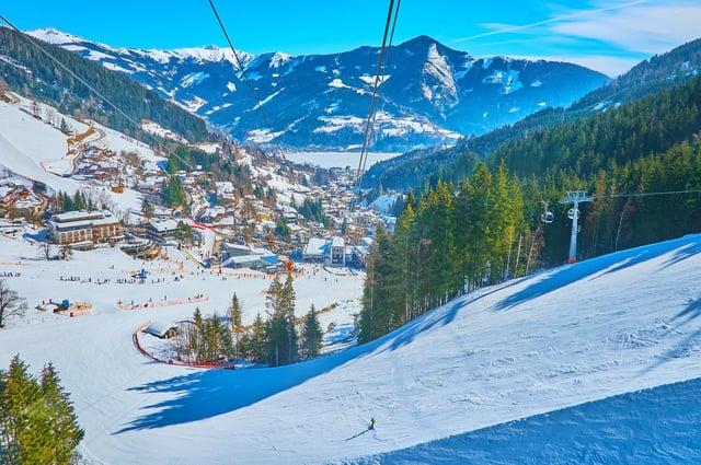 Skiing at Zell am See.