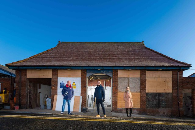 Pier View public toilets on Roker seafront is being re-developed by Lord Trevor Davis and his son Ben into a 'Tin of Sardines' gin bar.