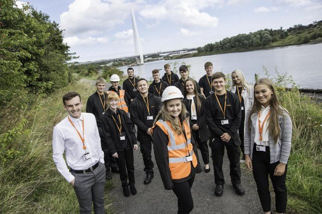 Gentoo's 2019 apprenticeship intake as pictured at the time. Now 14 more opportunities are available.
