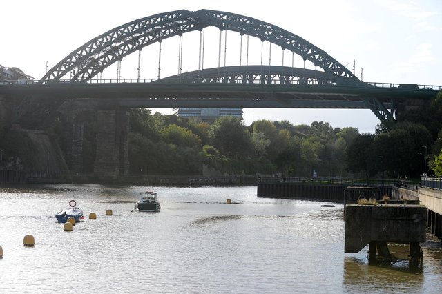 Sunderland RNLI were called following reports of a man in the water near Wearmouth Bridge.