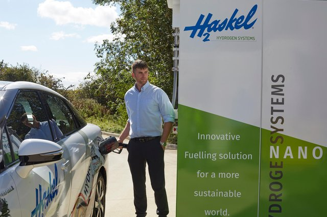 Hydrogen refuelling station at the Haskel in North Hylton.