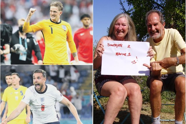Southgate 2 Mancini 1? Greg and Sandra Perry are hoping that's how the Euro final finishes!