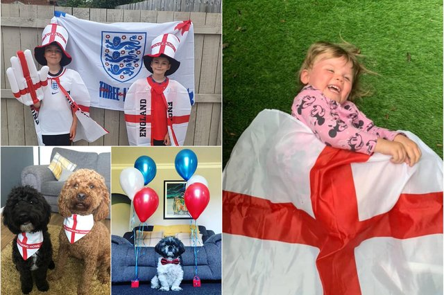 Showing their support for England!