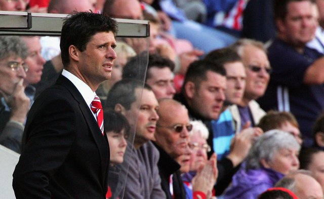 Niall Quinn looks on in his last game as manager of Sunderland during the Coca-Cola Championship match between Sunderland and West Bromwich Albion at the Stadium of Light.