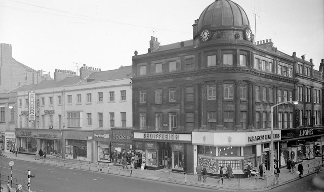 Mackie's Corner pictured in March 1961 in a photograph held by Sunderland Antiquarians.