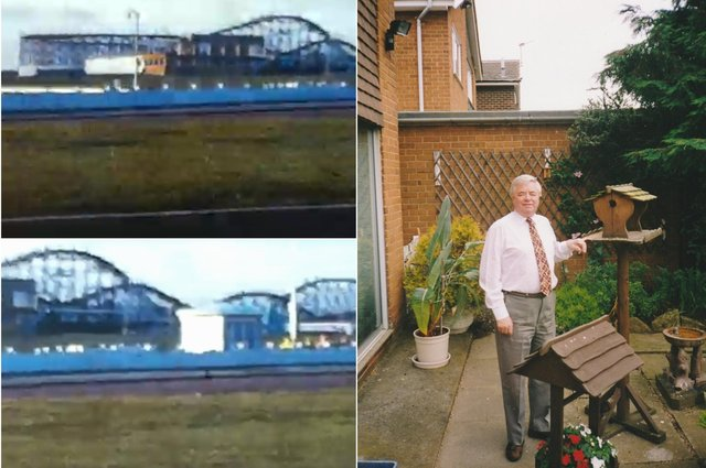 Norman Smith and some stills from his cine footage of Sunderland in 1973.